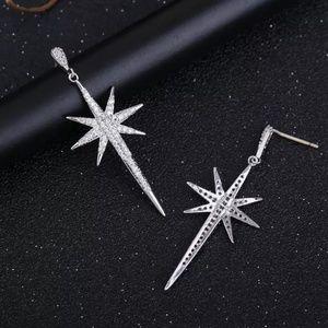 Luxury Star Pendant Cubic Zirconia Stud